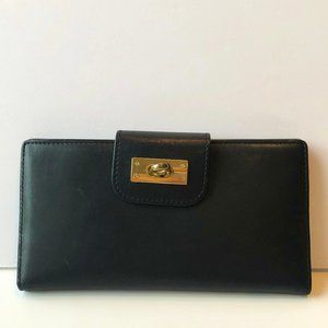 J.CREW SOFT BLACK WALLET